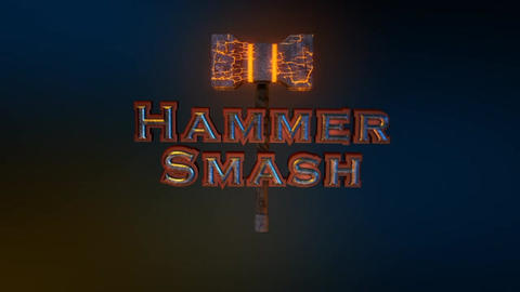 Hammer Smash - Thor's Hammer Style Logo Opener After Effects Template
