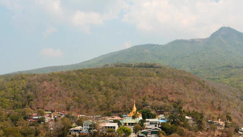 Myanmar rural place view from Popa hill hyper lapse Footage