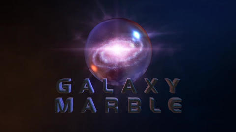 Galactic Marble - Galaxy inside a Marble Logo Stinger After Effects Template