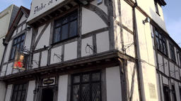 Great Britain England Southampton 15 traditional pub in half-timbered building Footage