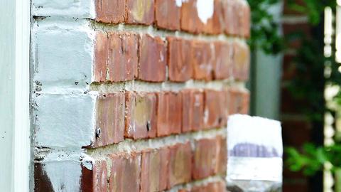 Brick house painting