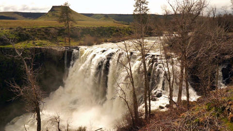 Waterfall on the White River in Oregon Territory Footage