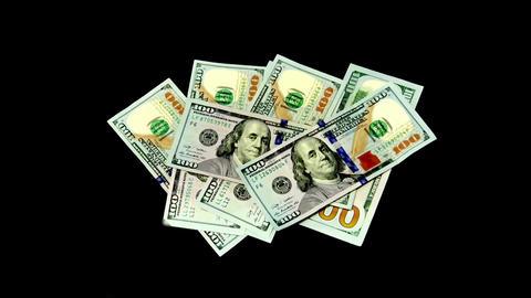 100 Dollars Bills Moving And Waving ビデオ