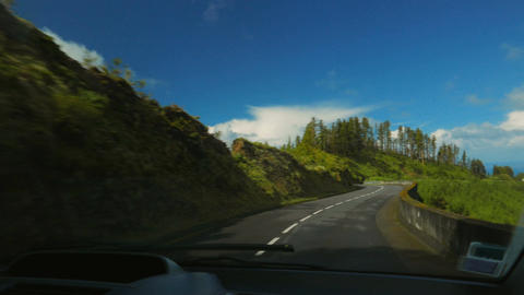 Driving in The Azores islands, Portugal Footage