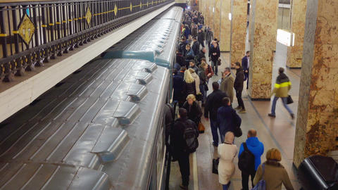 Passengers On Subway Station And Footage