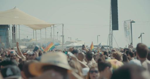 TEL AVIV, ISRAEL, June 9th 2017. People dancing and marching in the annual pride Footage