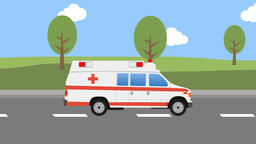 Cartoon Ambulance Car Animation