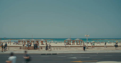 Time lapse of the Tel Aviv beach, Israel