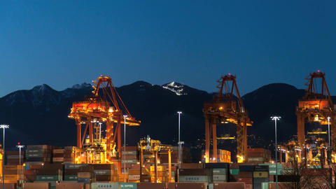 Port Of Vancouver Hyperlapse Night 1 Footage