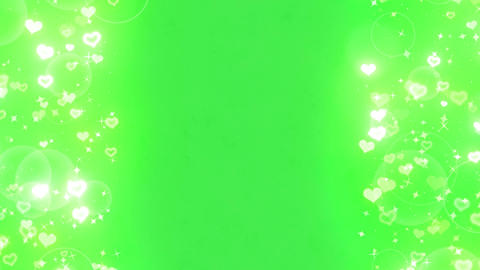 Bothside sparkling heart wht CG動画素材