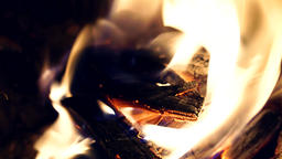 Closeup, inside a fireplace Footage