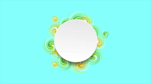 Colorful swirl shapes on cyan background motion design Animation