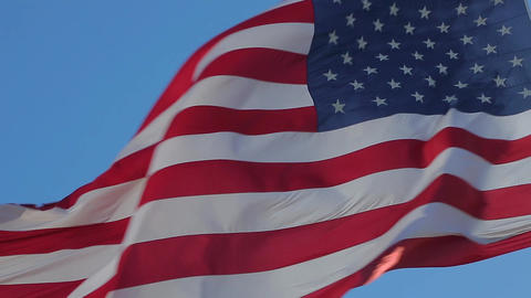 American Flag Waving Footage