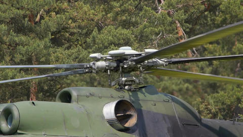 Spinning helicopter propeller Filmmaterial