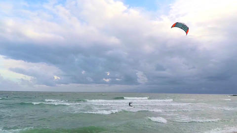 Windsurf On an Ovecast Day Footage