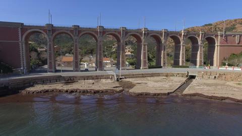 The creek Anthéor on the cornice of Esterel, filmed by drone, Saint-Raphael, Fr Footage