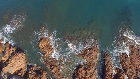 The creek Anthéor on the cornice of Esterel, filmed by drone, Saint-Raphael, Fr Footage