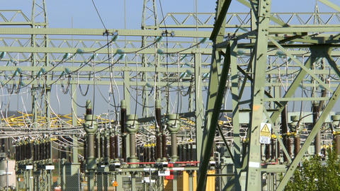 High voltage power transformation station Filmmaterial