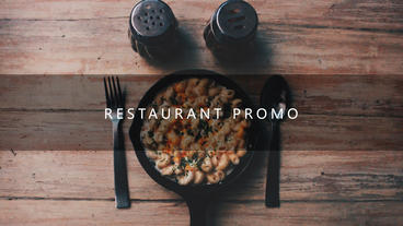 Restaurant promo After Effects Template