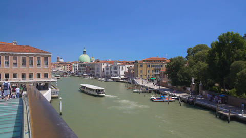 Beautiful view on Grand Canal in Venice from the bridge, sightseeing, vacation Footage