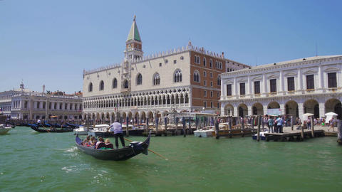 Exterior of ancient and beautiful Doge's Palace in Venice, sightseeing, tourism Footage