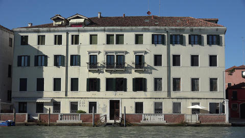 Old Building In Venice Italy Live Action