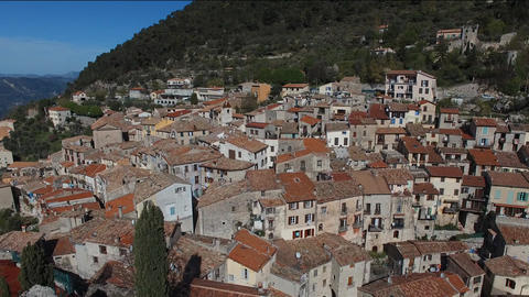 Small hilltop village of Peille located in the hinterland of Nice, filmed by dro Footage