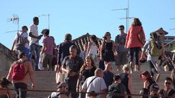 Tourist Pedestrians Walking Live Action