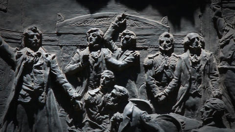 Detail Of Monument In Argentina, Assembly Of The Year 13 Filmmaterial
