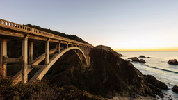 4K timelapse of Bixby Creek Bridge, Big sur Footage