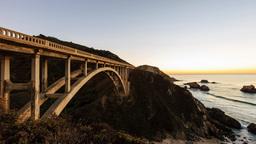 4K timelapse of Bixby Creek Bridge, Big sur Footage