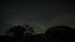 4K timelapse of milky way and moon rise Footage