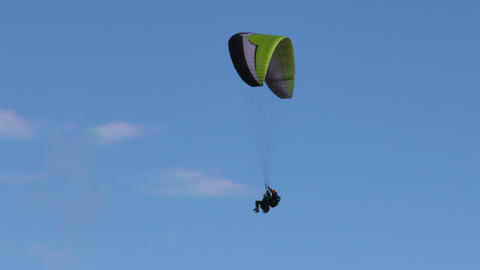 tandem paragliding in Ecuador around Tungurahua volcano Footage