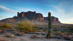 Time lapse of Superstition Mountains sunset Footage