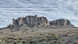 Dramatic Time Lapse of Superstition Mountain Footage
