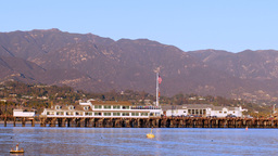 Stearns Wharf in Santa Barbara Harbor Footage