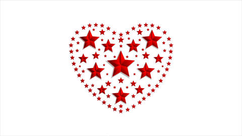 Star heart Valentine Day video animation Animation