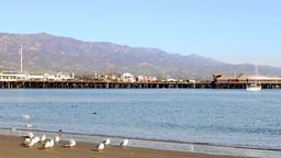 Santa Barbara Harbor and shore Footage