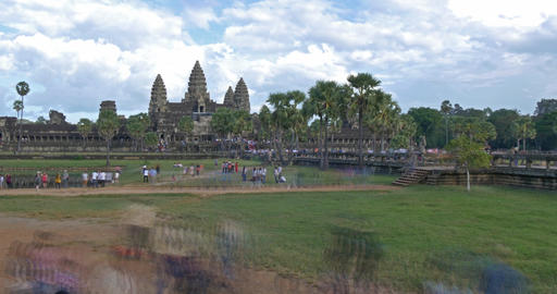 Time lapse of Angkor Wat Cambodia ancient civilization temple Footage