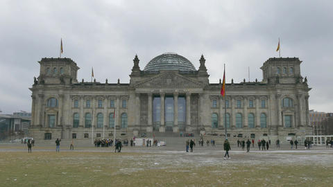 10 Berlin German City Germany Bundestag Reichstag Parliament People Monument stock footage