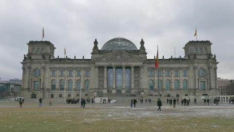 10 Berlin German City Germany Bundestag Reichstag Parliament People Monument Footage