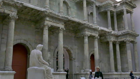 2 Berlin German City Germany Europe Pergamonmuseum Ancient Art Museum Footage
