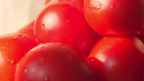 fresh tomatoes slow motion Footage