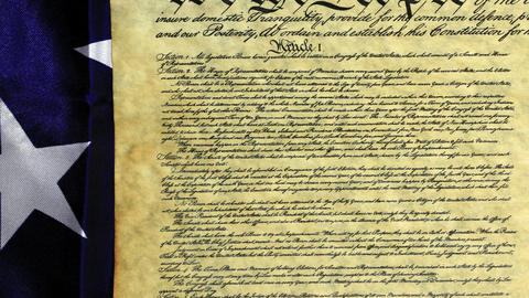 Historical Document US Constitution - We The People Footage