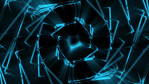 Blue Abstract Neon Squares Motion Graphic Background Backdrop Animation