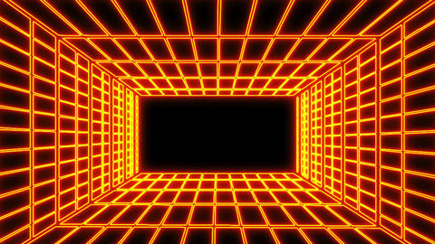 Orange Electric Grid Room Environment Motion Graphic Element Animation