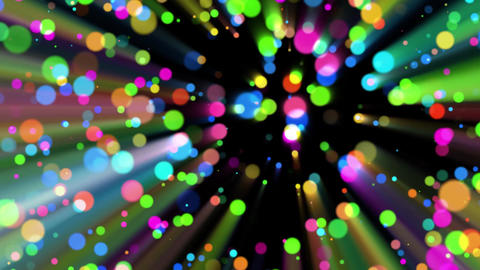 Colorful Ascending Circles with Colored Light Rays Background Backdrop Animation