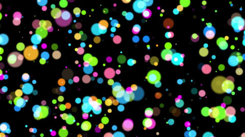 Colorful Ascending Circles Particles Abstract Background Backdrop Animation