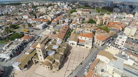 Church of Saint Lazarus in Larnaca, Cyprus, aerial view. Places of interest Live Action