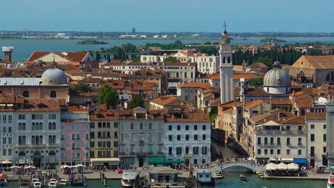 Wide panorama of ancient architecture in Venice, tourism and attractions, Italy Footage